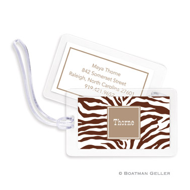 Luggage Tags - Zebra