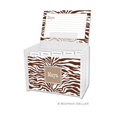 Recipe Box - Zebra