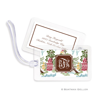 Luggage Tags - Chinoiserie Autumn