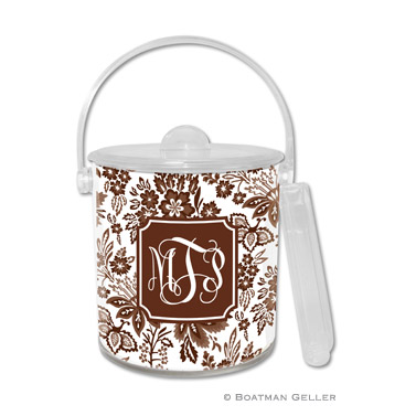 Ice Bucket - Classic Floral Brown