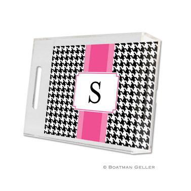 Lucite Tray - Alex Houndstooth Black
