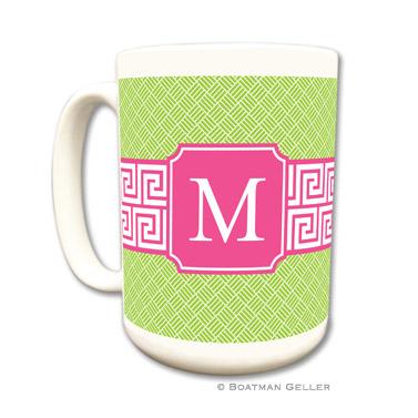 Mugs - Greek Key Band Pink