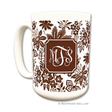 Mugs - Classic Floral Brown