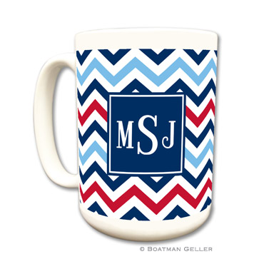Mugs - Chevron Blue & Red