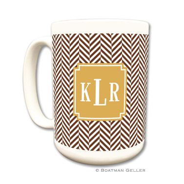 Mugs - Herringbone Chocolate