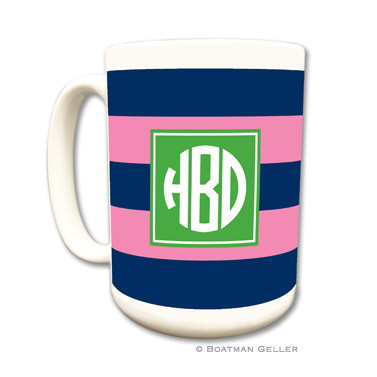 Mugs - Rugby Navy & Pink