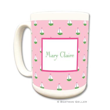 Mugs - Little Sailboat Pink