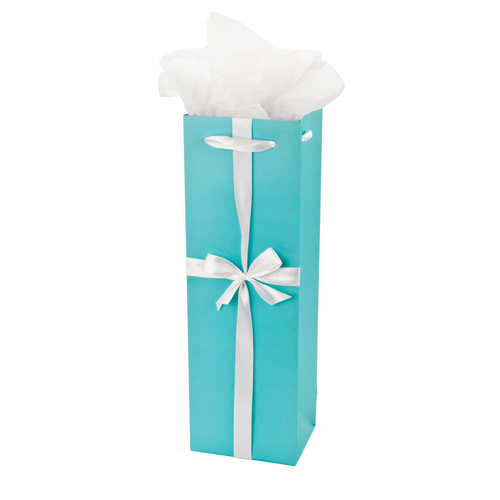 Wine Gift Bag-Tiffany style