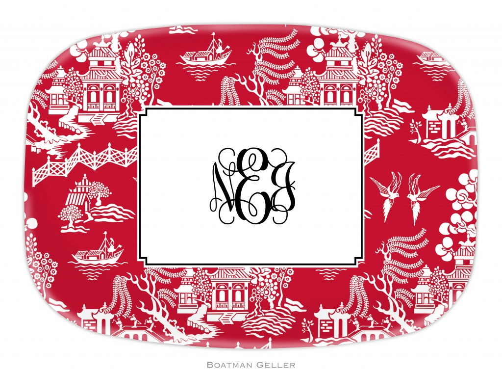 Platter - Chinoiserie Red