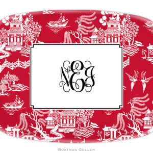 Platter - Chinoiserie Red