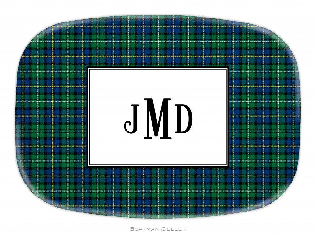 Platter - Black Watch Plaid