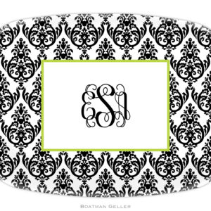 Platter - Madison Damask White w/Black