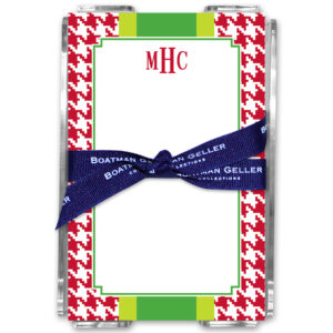 Note Pads - Alex Houndstooth Red