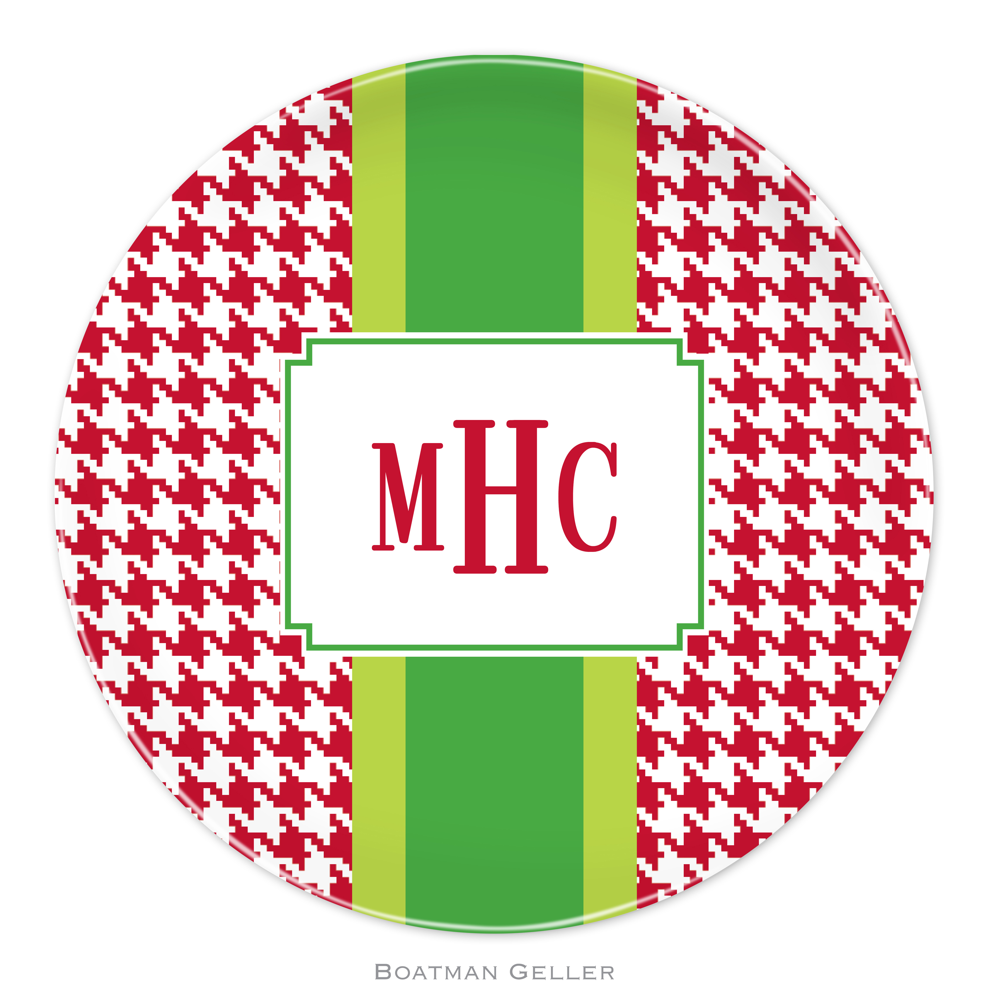 """Plates 10"""" - Alex Houndstooth Red"""