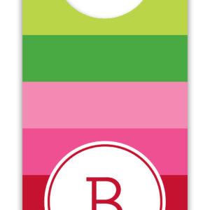 Wine Tags - Bold Stripe Pink & Green
