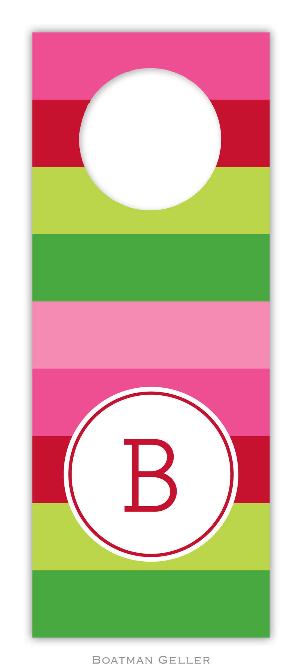 Wine Tags - Bold Stripe Pink & Green