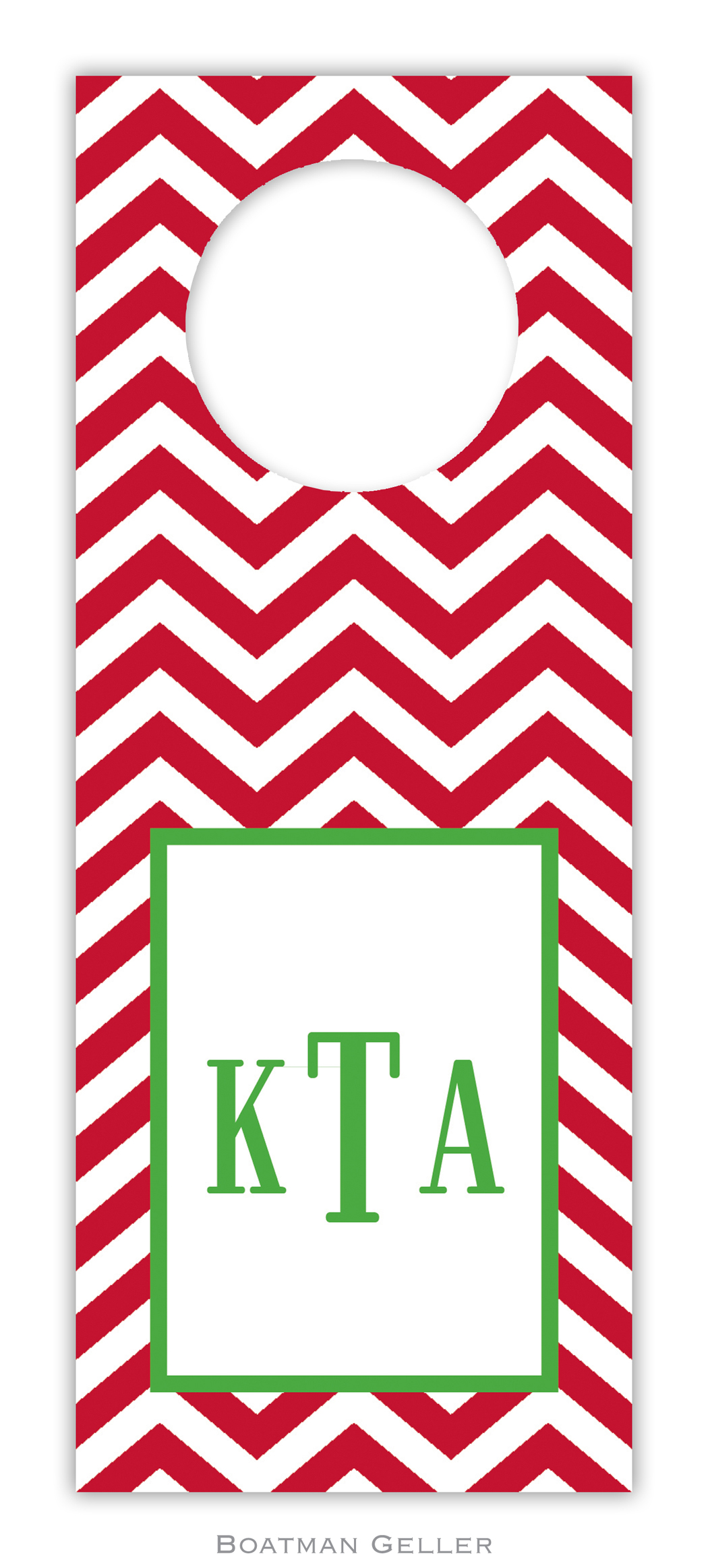 Wine Tags - Chevron Red