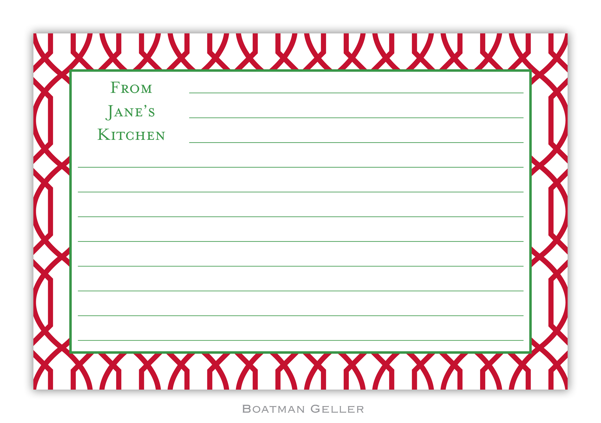 Recipe Cards - Trellis Reverse Cherry