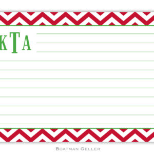 Recipe Cards - Chevron Red