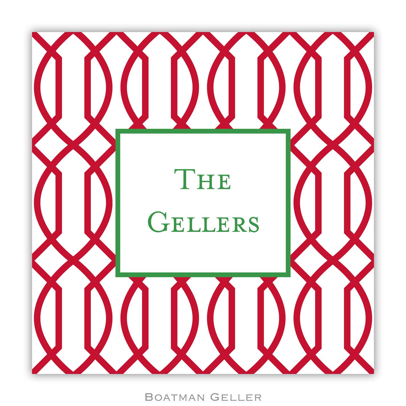 Paper Coasters - Trellis Reverse Cherry
