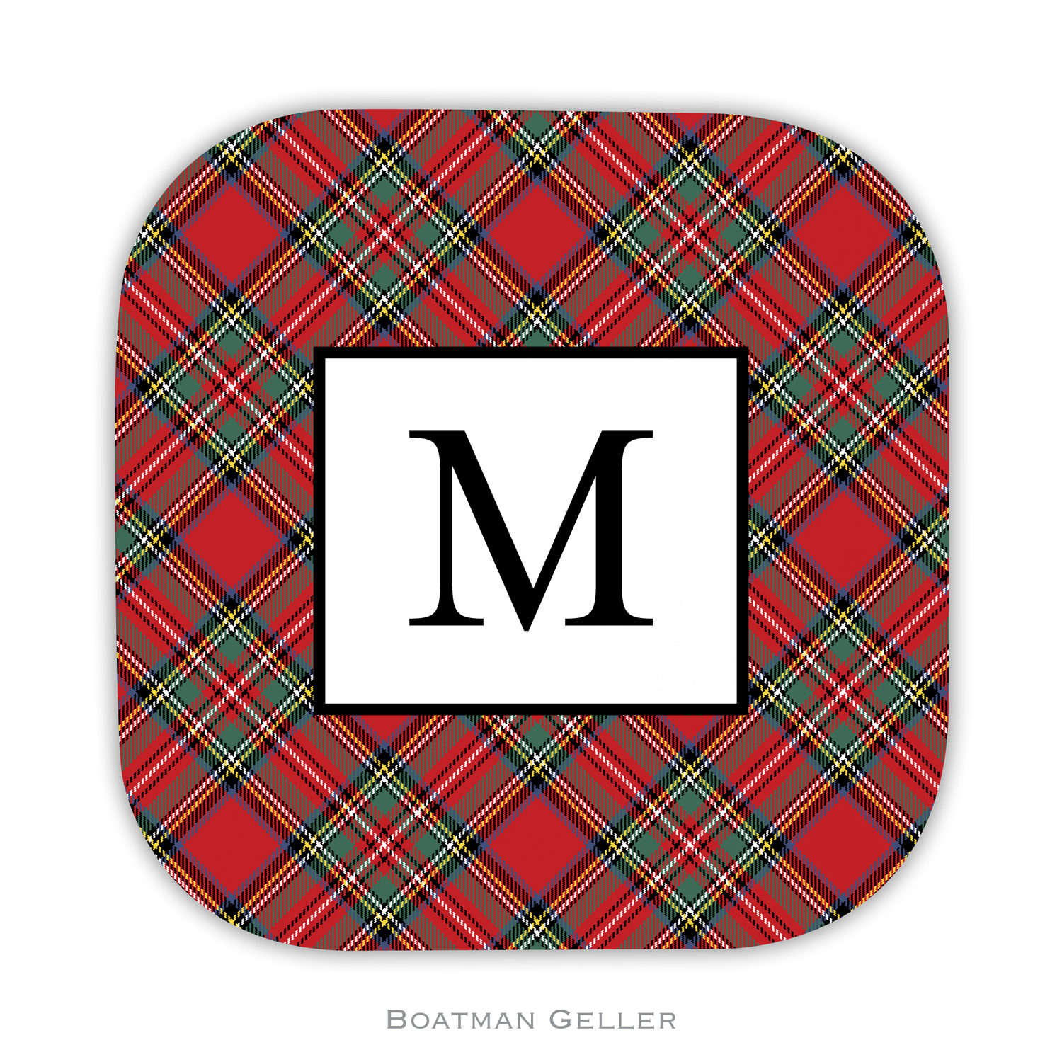 Coasters - Plaid Red