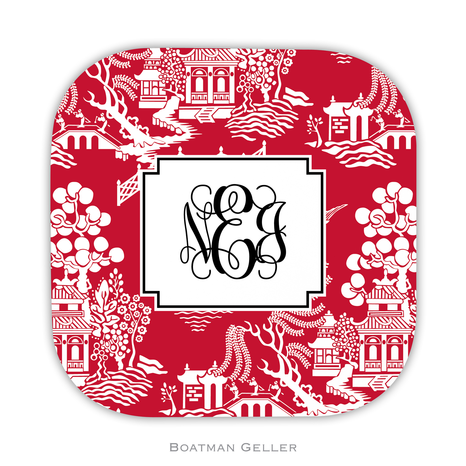 Coasters - Chinoiserie Red