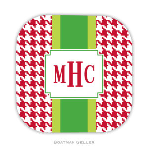 Coasters - Alex Houndstooth Red