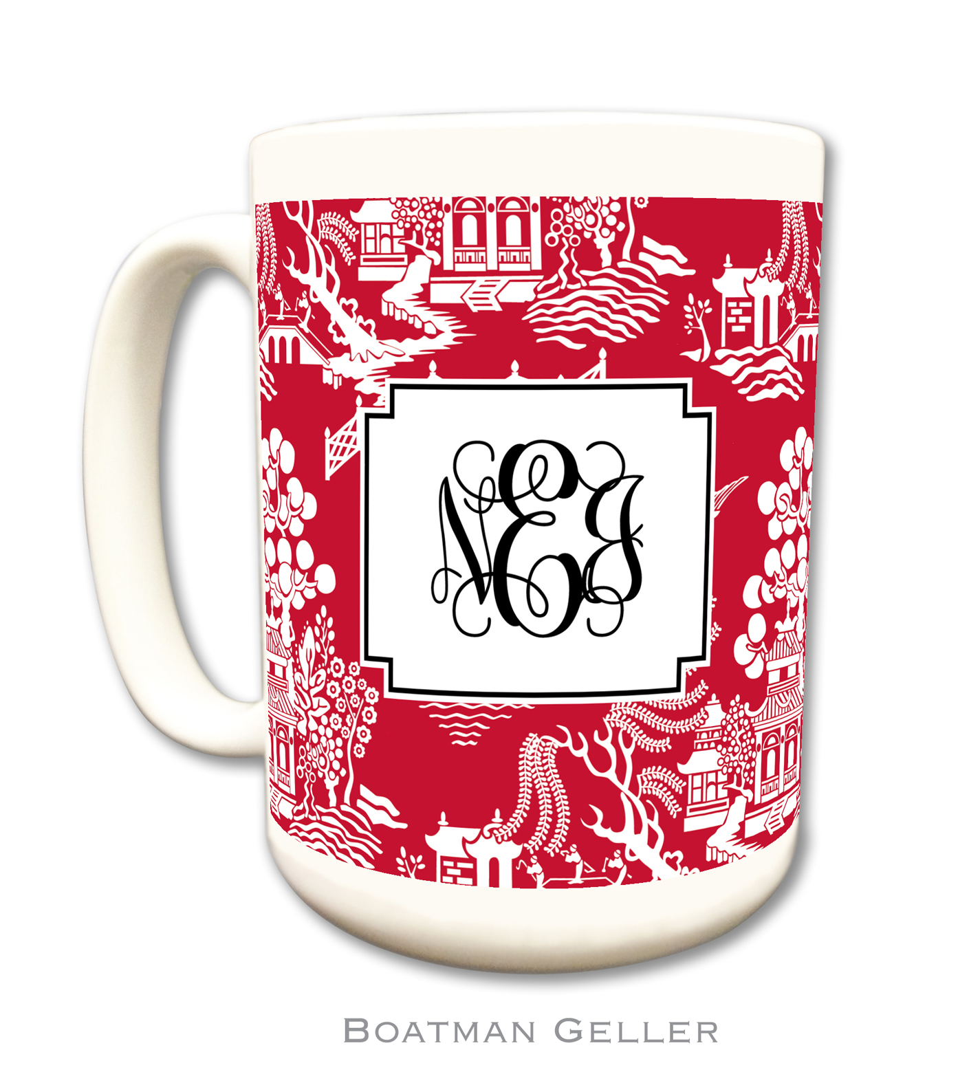 Mug - Alex Houndstooth Red