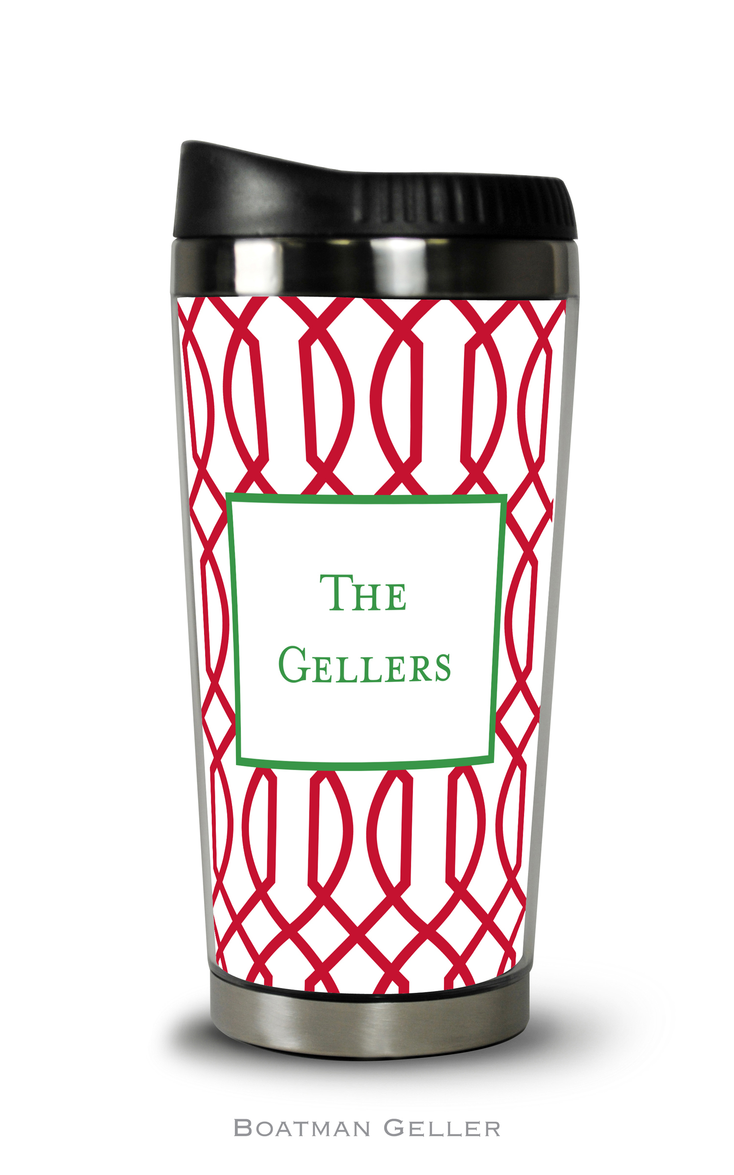 Travel Tumbler - Trellis Reverse Cherry