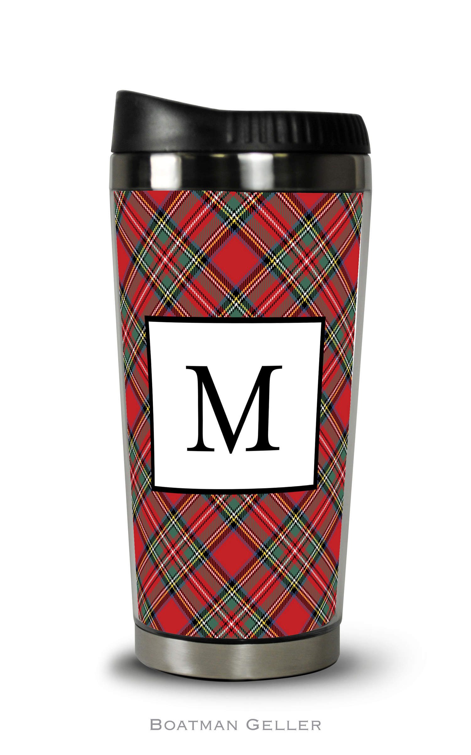 Travel Tumbler - Plaid Red