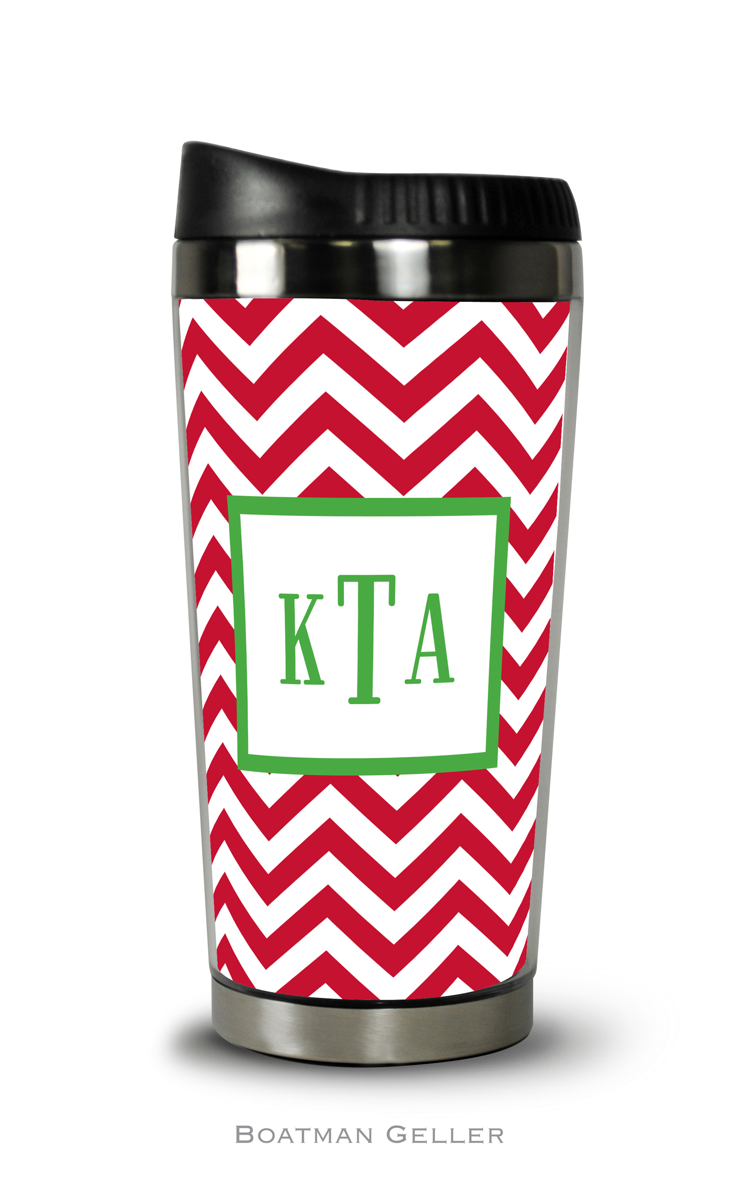 Travel Tumbler - Chevron Red