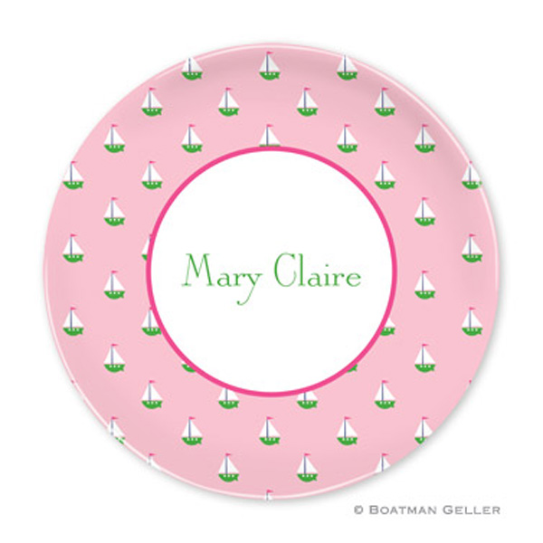 Plate-Little Sailboat Pink