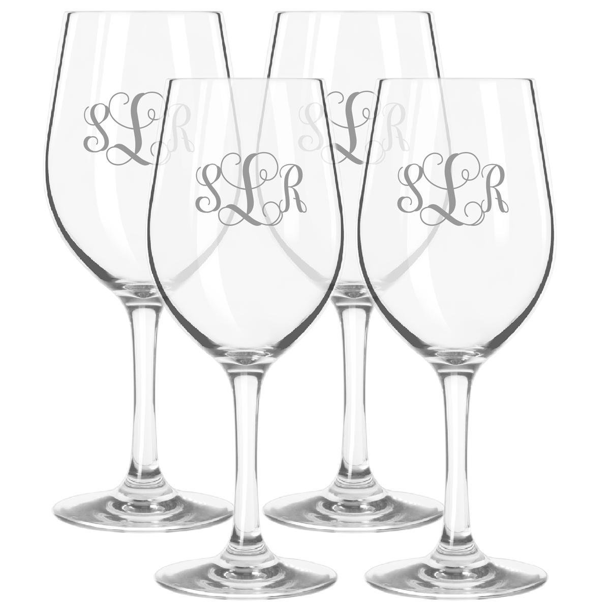 Attractive Personalized Tritan Wine Stems 12 Oz (Set Of 4)