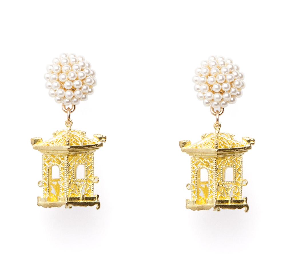 Pagoda Earrings Pearl